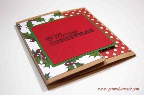 postal navideña con recortes #manualidades #ideas #navidad