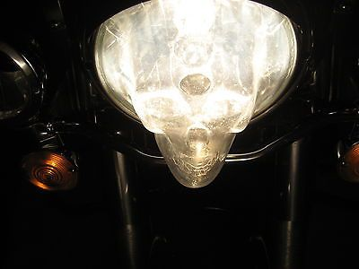 1 set of 2 skull headlight covers that fit 7in. headlights for cars and trucks