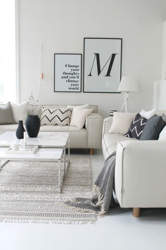 461 besten wohnzimmer skandinavisch bilder auf pinterest wohnen haus und innenarchitektur. Black Bedroom Furniture Sets. Home Design Ideas