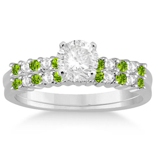 55 best peridot engagement rings images on pinterest for Peridot wedding ring set