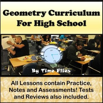 This contains everything you need to get you through the first semester of Geometry. The second semester is being added as I finish it. The only thing lacking in the second semester at this point is area, surface area and volume. Buy now and get a discount.
