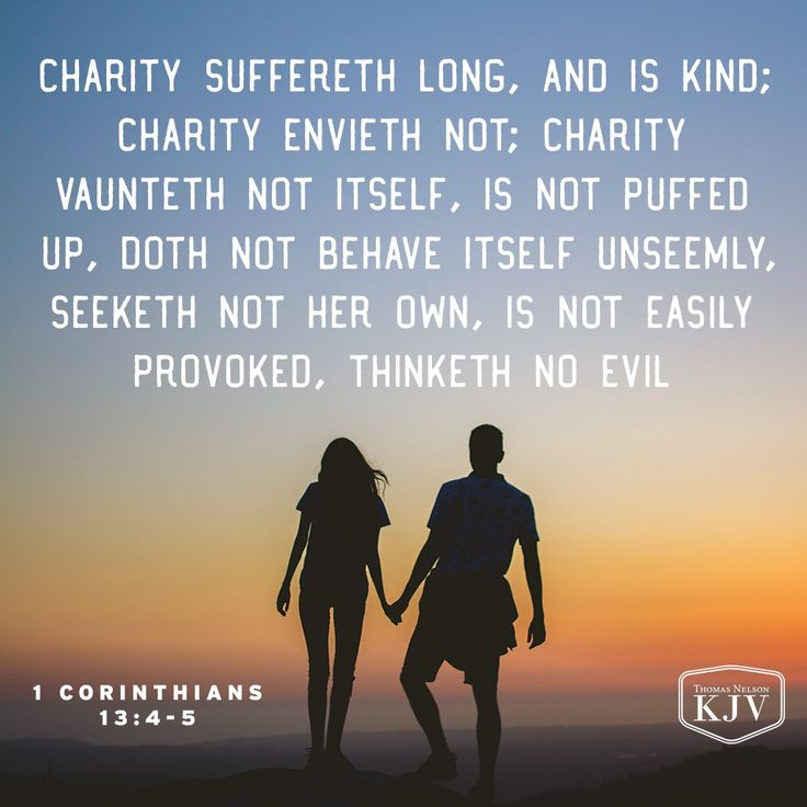 KJV Verse of the Day: 1 Corinthians 13:4-5