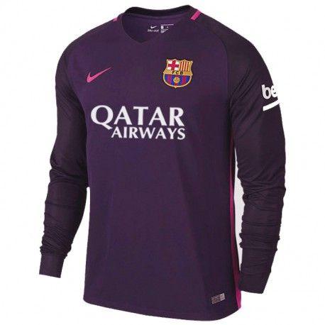 Camiseta Nueva del Barcelona Away 2017 Manga Larga