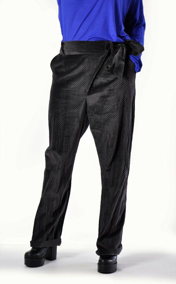 Dark grey Velvet pants/Loose Casual Velvet Cotton