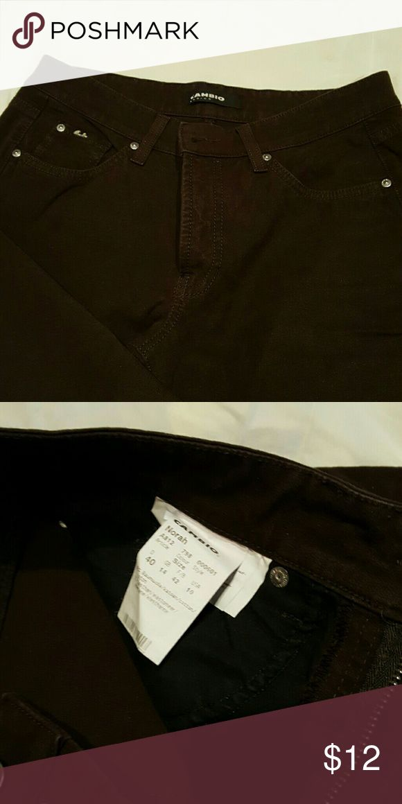 Cambio nora brown jeans. Size 10. cambio  Jeans Straight Leg