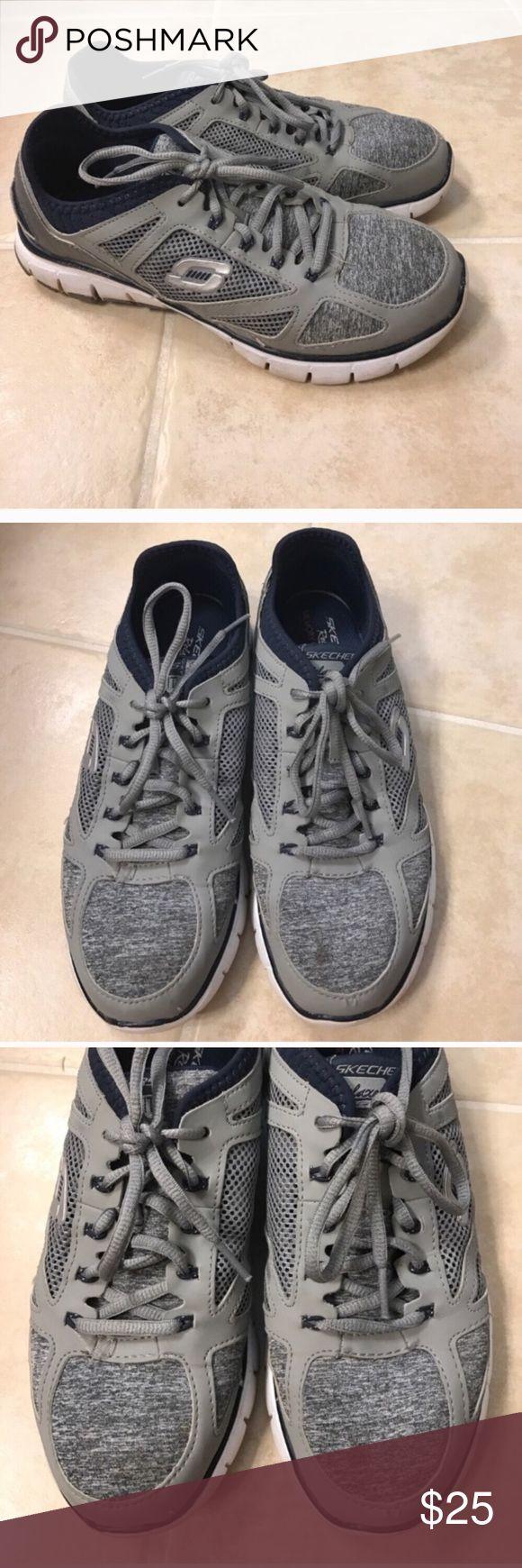 Size 8.5 grey Skechers memory foam sneakers Size 8.5 grey Skechers memory foam sneakers Skechers Shoes Sneakers