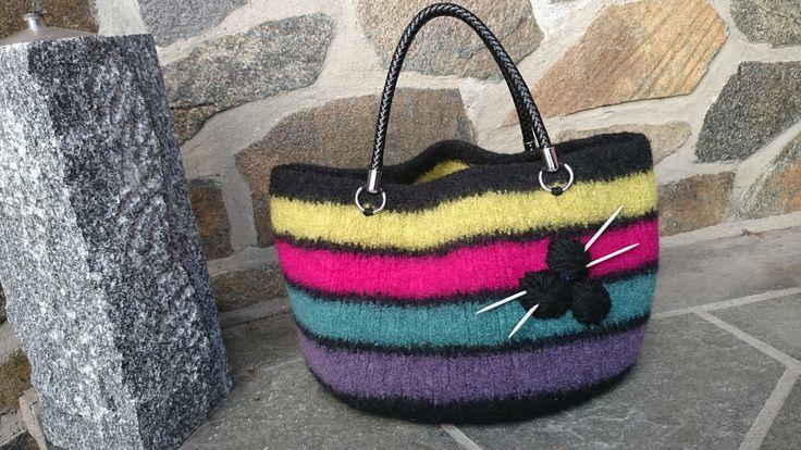 Felted handbag for my knitting.
