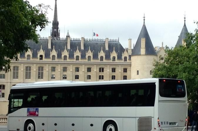 Round-Trip Coach Transport to Disneyland Paris from Central Paris Get to Disneyland® Paris the easy way with this comfortable coach transport service. Avoid the hassle of Paris' Metro and RER train systems; instead, board an air-conditioned bus at one of four pickup points in central Paris — Opéra, Madeleine, Châtelet (except on April 3, 2016) or Gare du Nord — and relax on the 1-hour drive to the Disneyland® Paris entry gates. After a day of fun at the parks, rest your legs o...