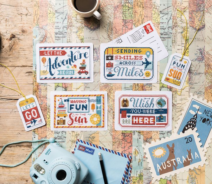 Travel far with Emma Congdon's postcards and luggage tags in Crazy issue 229!