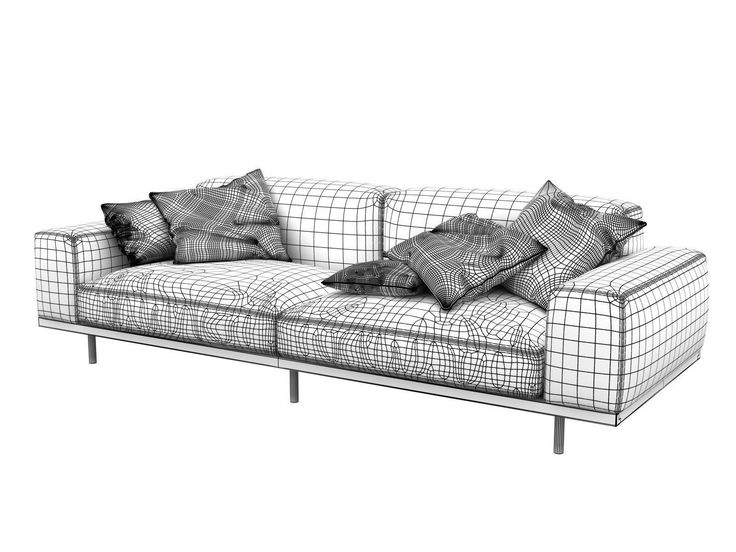 Naviglio 3D model | CGTrader | 3d model, Outdoor sofa ...