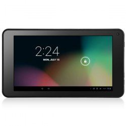 Main Features: CPU: Rockchip RK3168 Cortex-A9 Dual Core 1.5GHz  GPU: PowerVR SGX540 OS: Google Android 4.2.2 RAM: 512MB DDR3  ROM: 4GB  External storage: Micro TF card (up to 32GB) - not included  Screen: 7 inch LCD capacitive 5-point touch panel 1024 x 600 (WSVGA) Flash: Flash 10.3 Supp... Click on Picture to go to Store