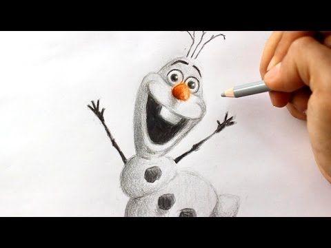 Een leuke afwisseling in een thema over winter/instructies(/beide gecombineerd): hoe teken je Olaf uit Frozen?