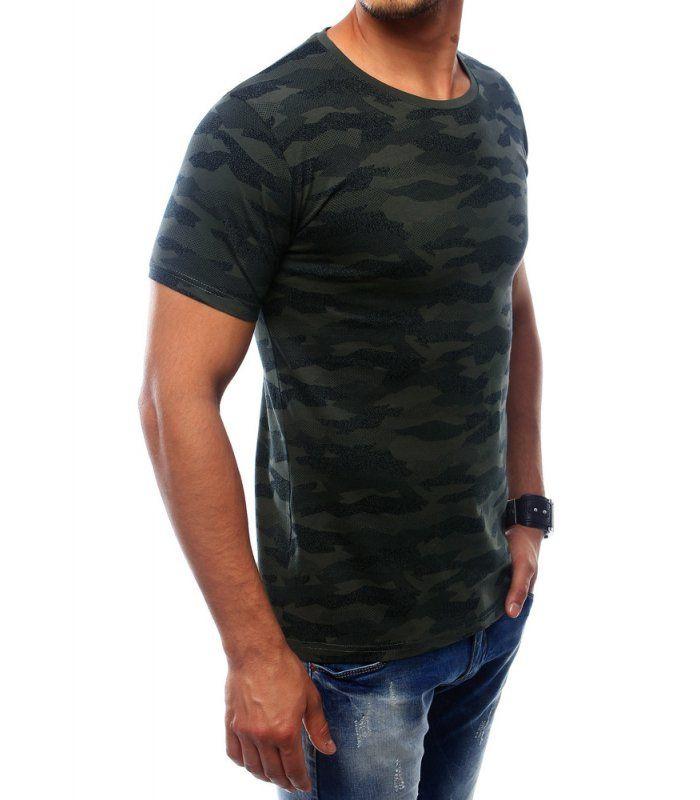 Pánske khaki tričko s potlačou