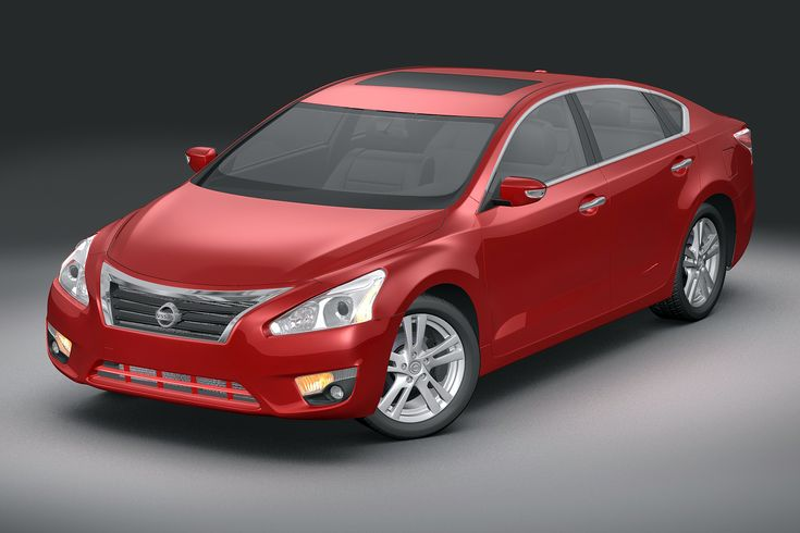 2013 Nissan Altima 3D Model- Modeled in 3D Studio Max 8. Max model has meshsmooth modifier intact (51761 polys). Images are rendered at meshsmooth iteration of 2 using Max 8's Mental Ray renderer. No plugins required. Photoshop corrections applied.    Max file contains indoor scene only as outdoor renders uses HDRI and backplates which are free downloads from SMCars.net which I cannot bundle in files sold.      All other models are exported with meshsmooth iteration collapsed at 1 (205566…