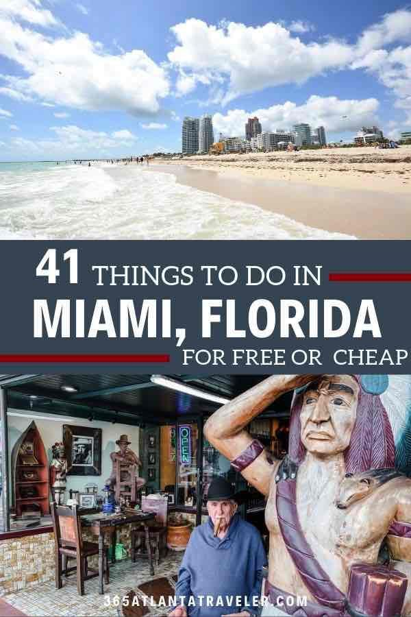 41 Things To Do In Miami On A Budget Welcome To Miami You Ve Made It To One Of The Most Bea Family Vacation Locations Top Family Vacations Free Things To Do