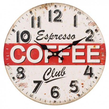 Zegar z napisem Coffee idealny do kuchni, bądź restauracji.  Więcej na : www.lawendowykredens.pl
