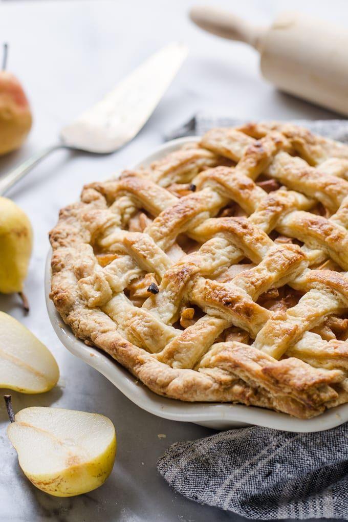 Spiced Pear Pie In A Sourdough Crust Pear Pie Recipe Pear Recipes Pear Pie