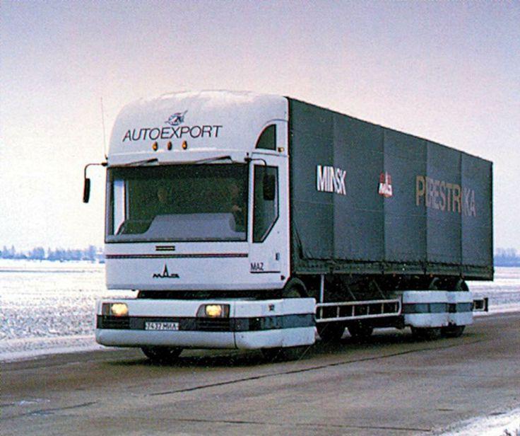 МАЗ 2000 «Перестройка» МАЗ 2000 «Перестройка» (1988) – прототип магистрального грузовика, отличавшийся оригинальной модульной конструкцией: спереди располагалась большая часть агрегатов – двигатель, коробка передач, ведущий мост и рулевое управление.