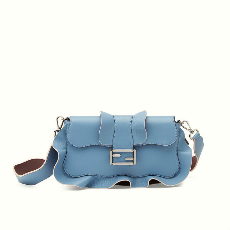 Fendi Baguette in cerulean blue.