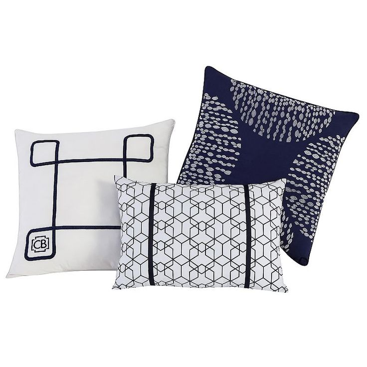 Vcny 3-piece Fractal Clairebella Throw Pillow Set, Multicolor