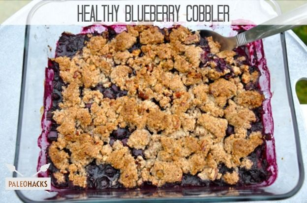 Paleo Real Healthy Blueberry Cobbler Recipe - used coconut sugar instead of stevia, delicious!