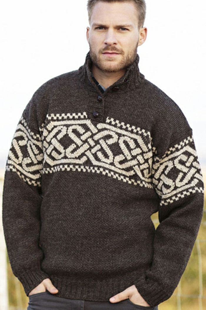 Norweger Pullover blond robust dunkel