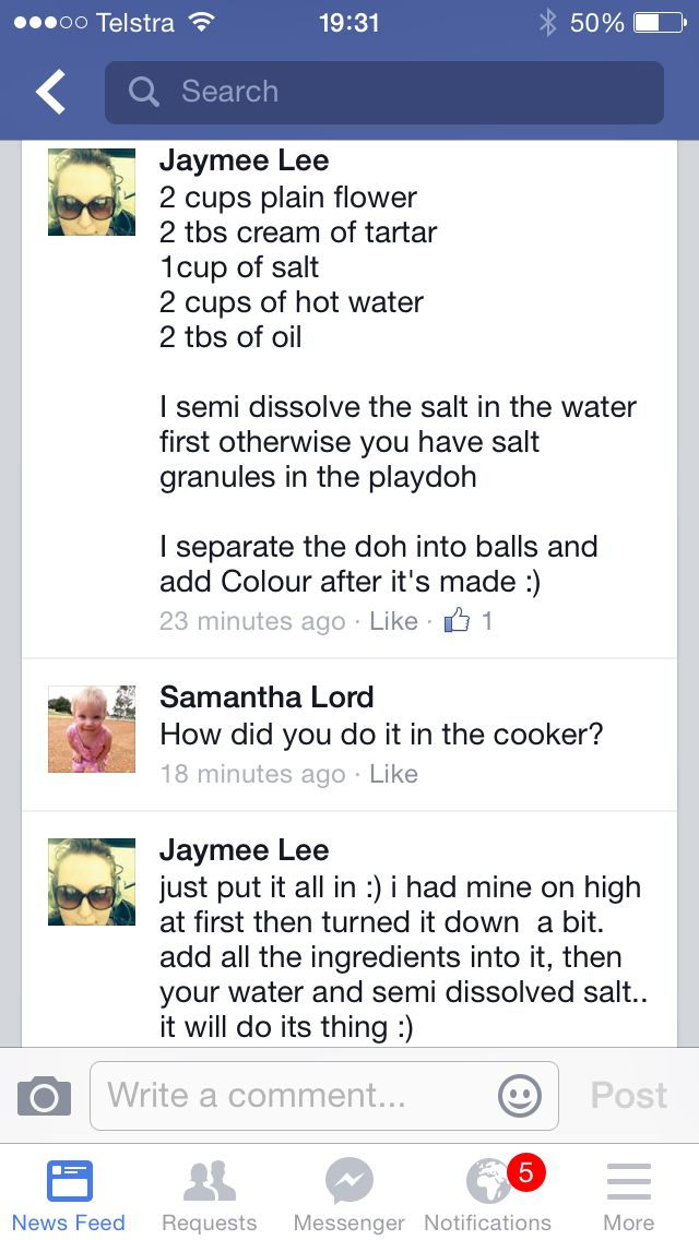 Play dough recipe for Jamie Oliver Homecooker