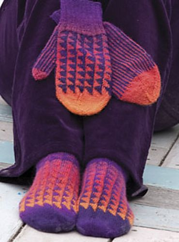This pattern (and the yardages) includes both socks and matching mittens.