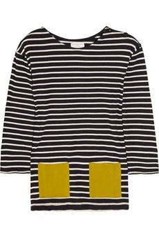: Organic Cotton, Parker Stripes, Cute Ideas, Bretton Stripes, Organizations Cotton, Stripes Tops, Cotton Tops, Border Stripes Shima Shima, Colors Pockets