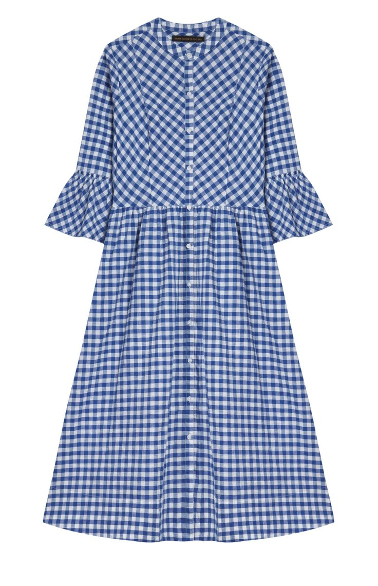 Blue Vichy midi dress, Primark. Spring/Summer Trends 2017 Midi & Maxi Dresses, dress, clothe, women's fashion, outfit inspiration, pretty clothes, shoes, bags and accessories