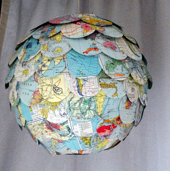 All Around the World hanging pendant paper by NaturallyHeartfelt, £45.50