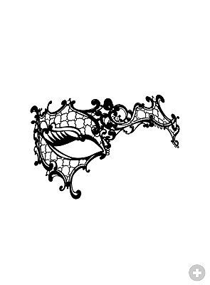 Colombina asimmetrica de metallo nero Metal Venetian mask - maskworld.com