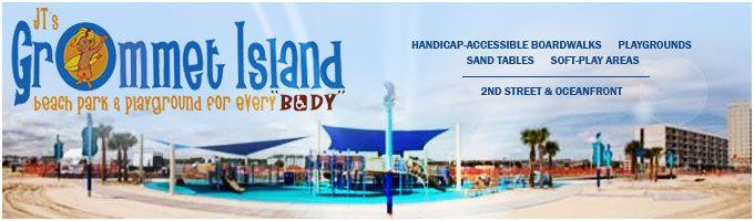 Looking for a fun #Handicapped-Accessible Boardwalk at the beach? Check out JT's #Grommet Island Park at 2nd Street.     #sandbridge #vabeach #wheelchair #siebert #disabled #vacationrentals   Siebert Realty - The Beach People Sandbridge Beach, Virginia Beach, VA