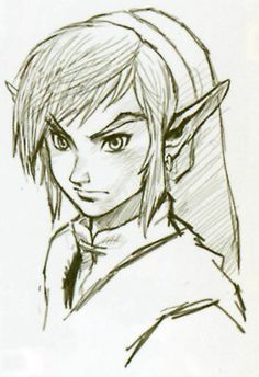 This depiction of link is cool because it looks like you are looking down upon him, from the side. Love it. I shall definitely draw it too. <3