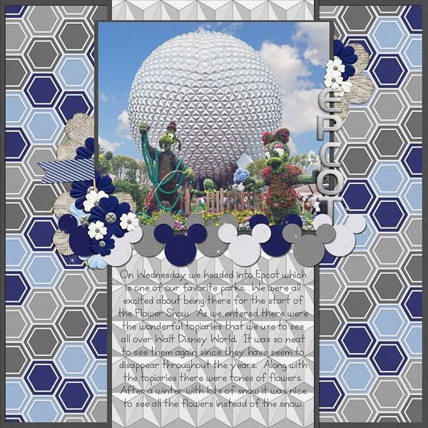 EPCOT > Digital Scrapbook Layout by Rebecca using That Globe by Melidy Designs