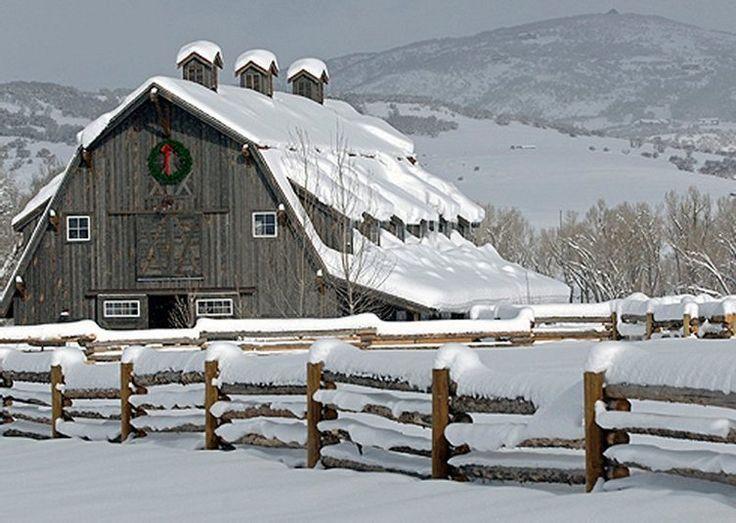 Beautiful Christmas Scene | BARNS & FARMS