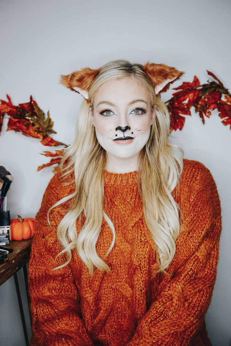foxy lady 🦊 just shared this sly fox Halloween makeup