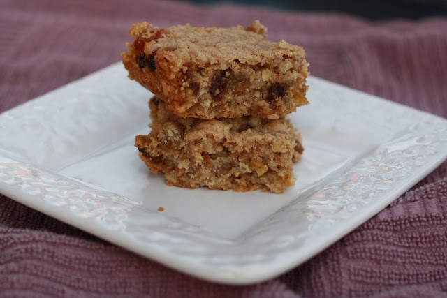 Oatmeal Raisin Bars Recipe adapted from Hill House Inn in Asheville, SC (thesweetlife)