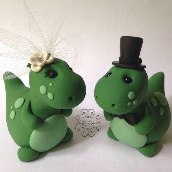 Hey, I found this really awesome Etsy listing at https://www.etsy.com/listing/189687284/dinosaur-wedding-cake-topper