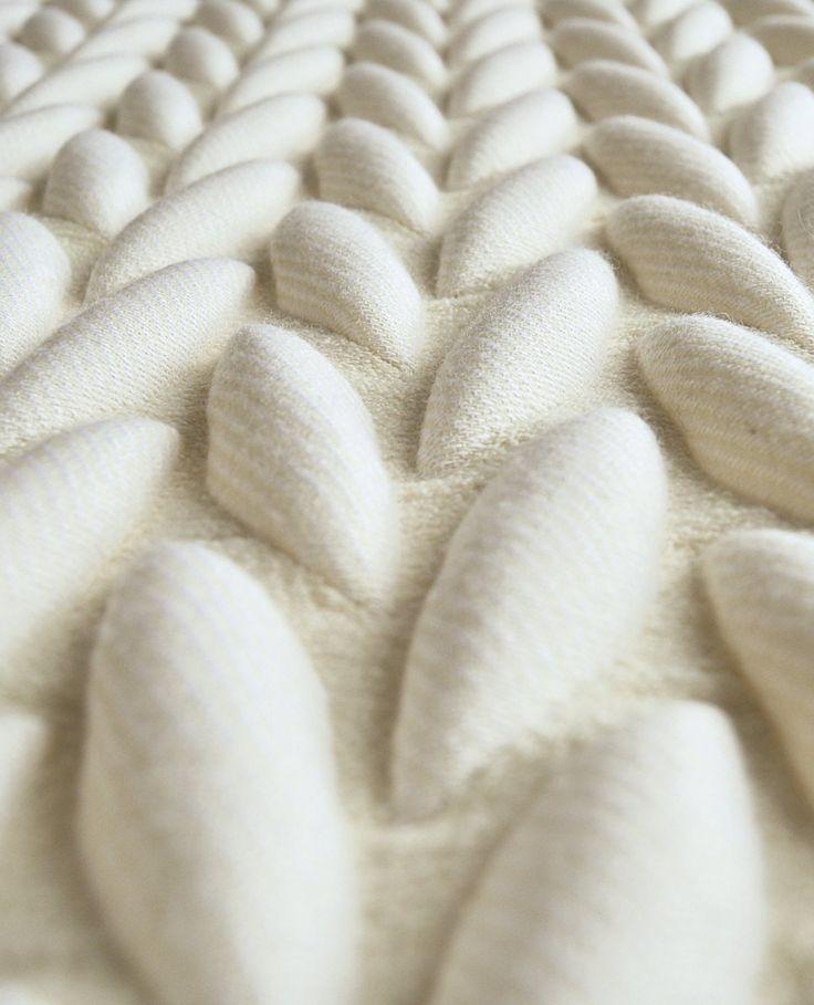 Acoustic fabric 3D TEXTILES by Casalis | #design Aleksandra Gaca #white