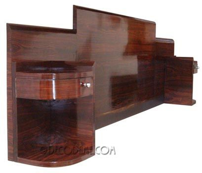 The coolest darn deco bed ever. Love art deco furniture.