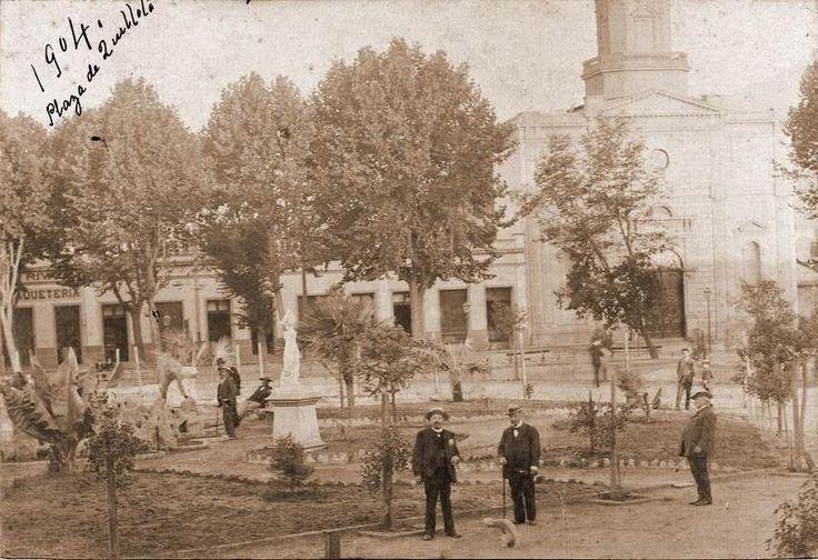 Chile, antigua Plaza de Armas de la ciudad de Quillota, V Región, 1904