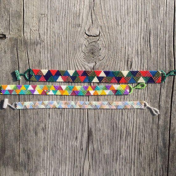 Seed Bead Bracelet. Peyote bracelet. Beaded by LetsMakeEverything