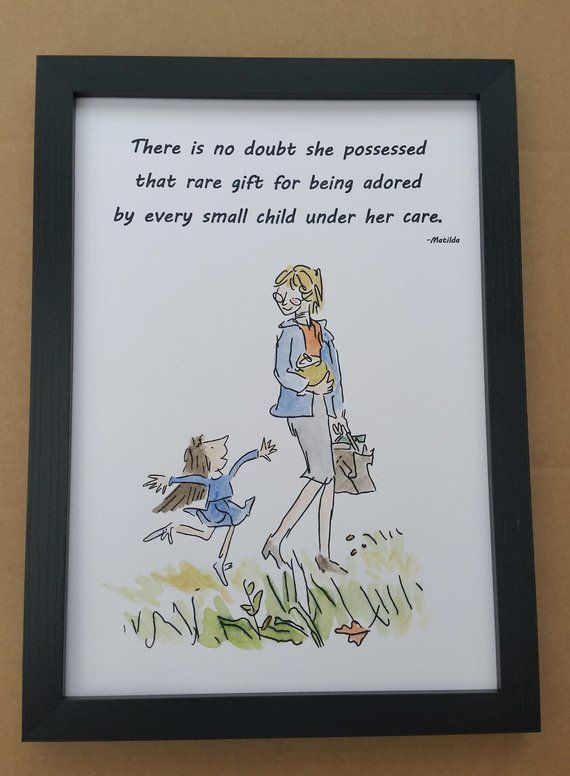 The Twits Roald Dahl Vintage Style Quote Art Print Unframed Gift Nursery