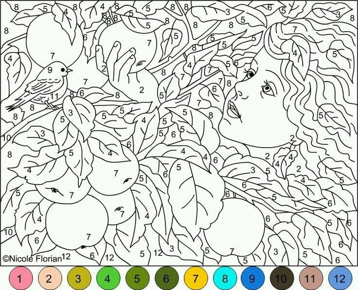 Adult coloring pages color by number pages for adults for children or adult that this have more similar of color by number pages for adults