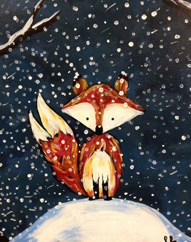 What does the fox say... in the snow