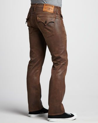 Ricky+Brown+Coated+Jeans+by+True+Religion+at+Neiman+Marcus.