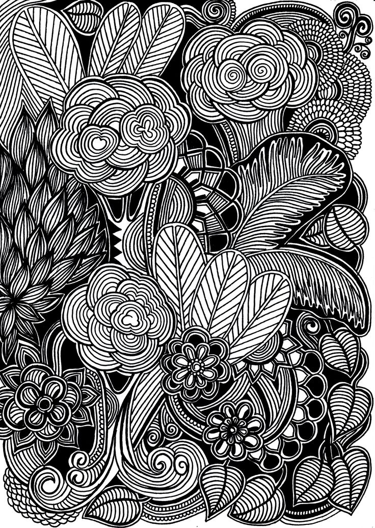 170 Best Images About Hand Drawn And Painted Flowers