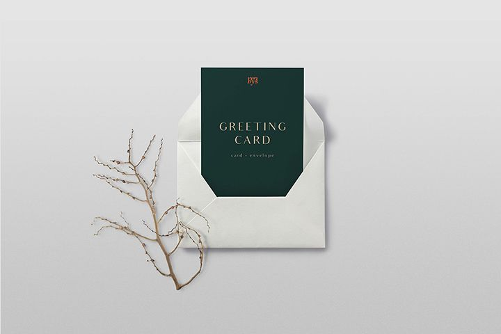 Free Greeting Card Mockup Free Design Resources Free Mockup Free Greeting Cards Greeting Cards