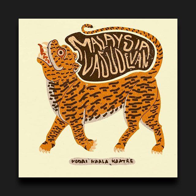 Alternative cover for Malaysia Vasudevan - Kodai kaala kaatre (@f_it_copypaste)